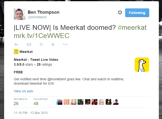 Is Meerkat doomed?